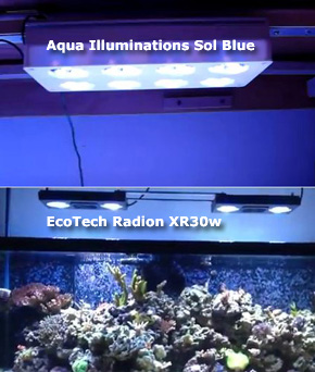 EcoTech and Aqua Illuminations LED Review, Comparison