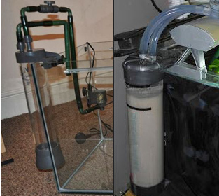 Fluidized Sand Bed Filter in sump, planted aquarium