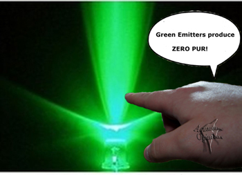 Aquarium LED PAR, Green emitter Zero PUR
